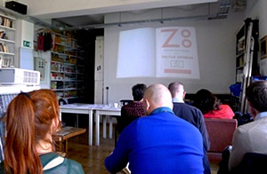 "Letters on a screen. Bernhard Sallman's film ""Zoo"", shown at the Workshop"